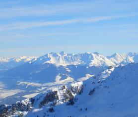 Tyrolsko - část skiareálu Glungezer