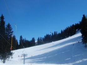 Část tyrolského skiareálu Mutterer Alm