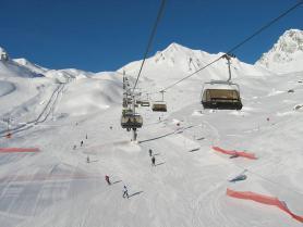 Tyrolsko - lanovka ve skiareálu Ischgl
