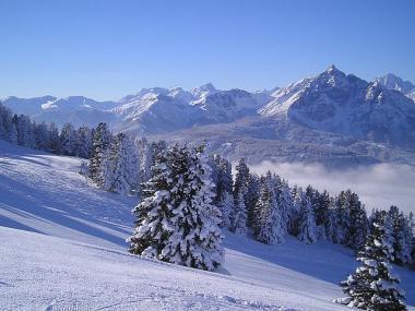 Tyrolsko - část hory Patscherkofel