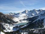 Krajina tyrolského skiareálu Kühtai